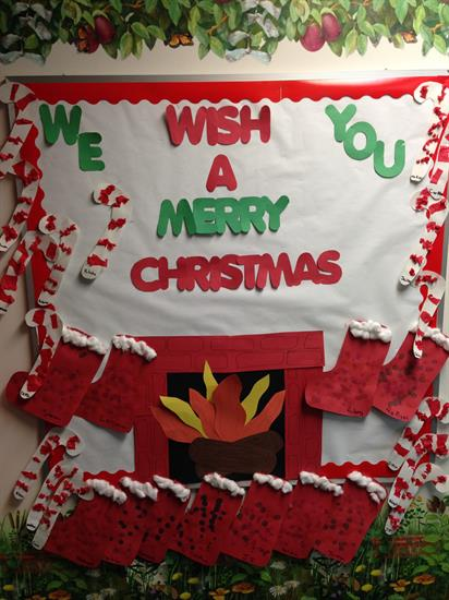 We Wish You A Merry Christmas Holiday Bulletin Board Idea Supplyme