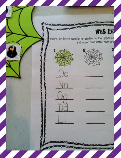 Halloween and Spider Themed Letter Matching Preschool Lesson Plan