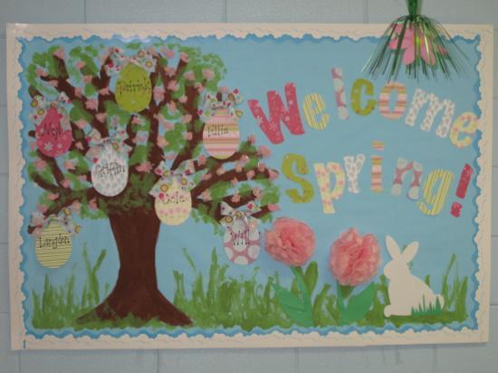 Welcome Spring Seasonal Bulletin Board Idea Supplyme