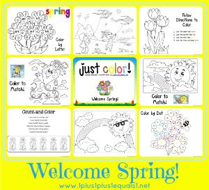 Welcome Spring Coloring Pages for Kids