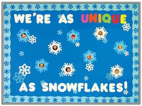 Motivational Snowflake Winter Bulletin Board Idea