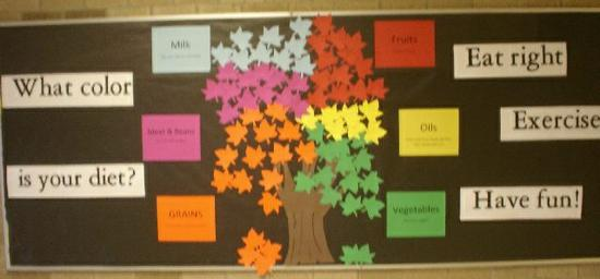 Fall Nutrition Bulletin Board Idea