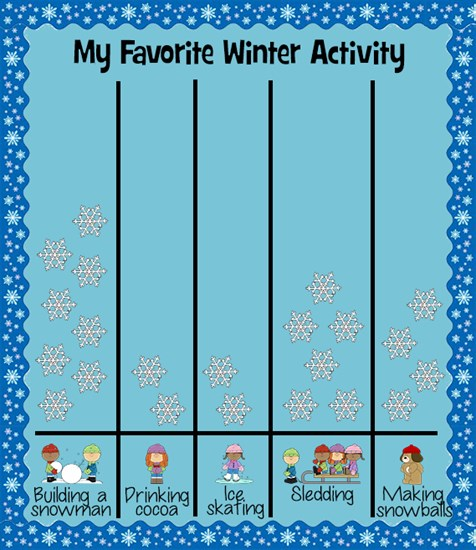 Winter Themed Writing Prompt Idea and Graphing Lesson