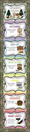 Camping Themed Behavior Management Bulletin Board Idea