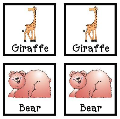 photograph about Zoo Animal Flash Cards Free Printable called Zoo Animal Flash Playing cards SupplyMe