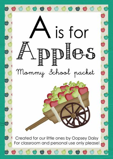 Apple Themed Multi-Skill Preschool Printables