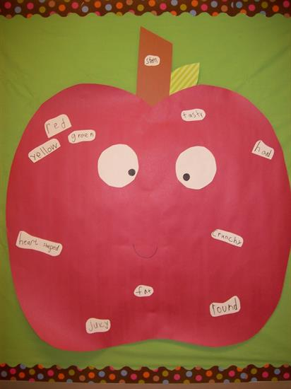 Fall Apple Descriptive Words
