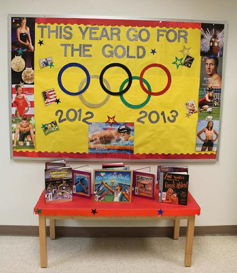 Go For The Gold Olympic Themed Back To School Bulletin Board Idea Supplyme