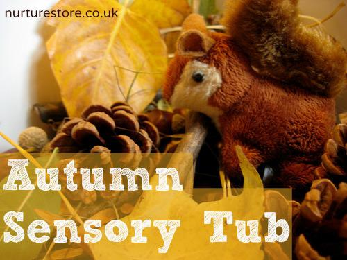 Autumn and Fall Sensory Tub and Preschool Lesson Plan