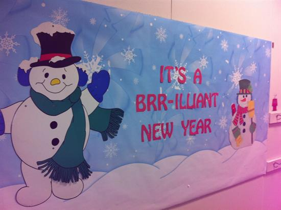 """It's a BRR-illiant New Year"" - New Years Bulletin Board ..."