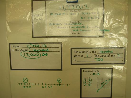 Practice with Larger Numbers for Daily Review with Calendar Math