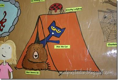 Camping Themed Reading and Back To School Bulletin Board Idea
