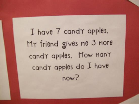 Fall Apple Word Problem