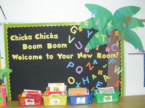 """Chicka Chicka Boom Boom"" Back To School Bulletin Board ..."
