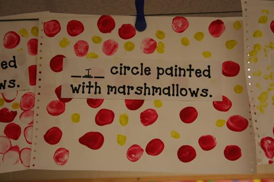 Using Marshallows for Circle Painting
