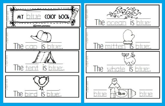 Colors and Literacy Preschool Printable