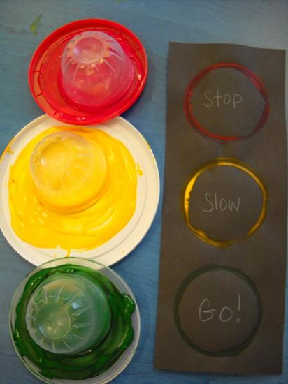 Craft for Kids - Stoplight