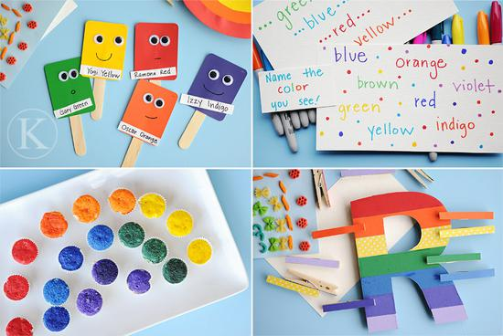 rainbow activities for kindergarten