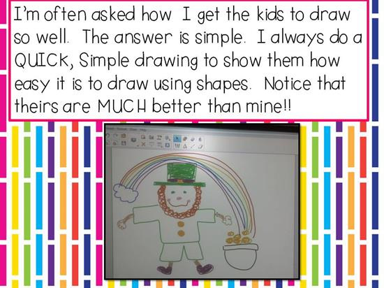 Drawing a Leprechaun Using Shapes