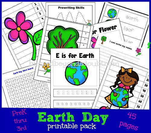 Earth Day Preschool Printable
