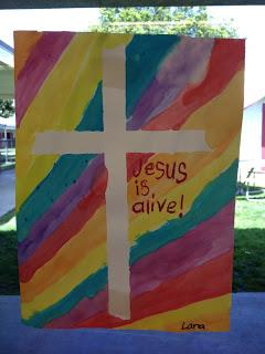 Easter Cross Watercolor Craft For Kids Supplyme