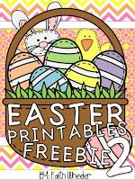 ABC and Math Freebies for Easter