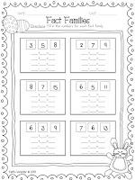 Fact Families Worksheet Freebie for Easter