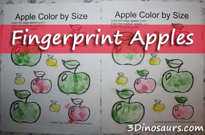 Back To School, Fall, and Johnny Appleseed Day Math Preschool Printable and Preschool Lesson Plan
