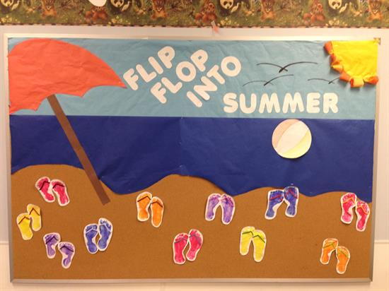 Bulletin Board Idea - Flip Flop into Summer