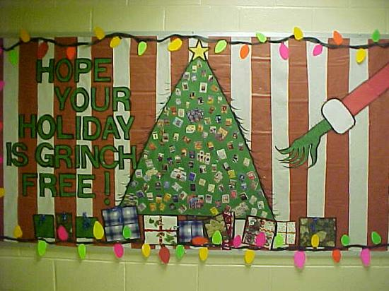 Grinch Inspired Christmas Bulletin Board Idea Supplyme