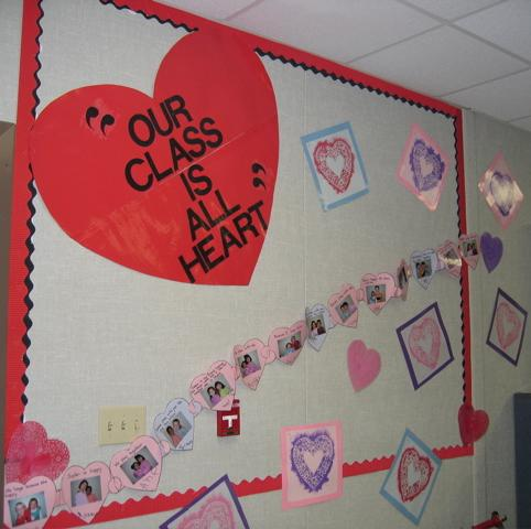 Our Class Is All Heart Valentine S Day Bulletin Board Display