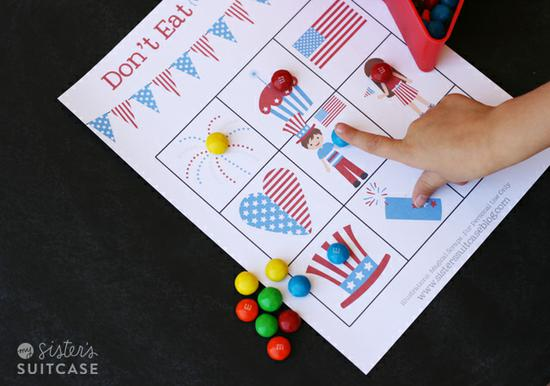 Patriotic Game for Kids and Preschool Lesson Plan