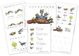 Spring Bird Preschool Printable