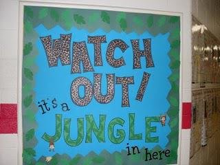 Elementary Jungle Classroom Theme Bulletin Board Ideas