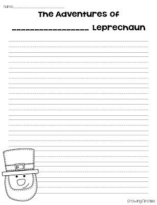 Writing Extension for the Fraction Leprechaun
