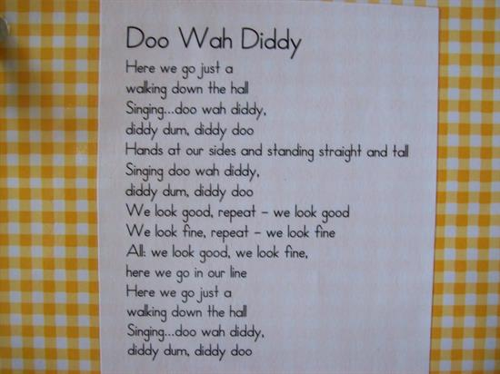Doo Wah Diddy - Sing Along Line-Up Song