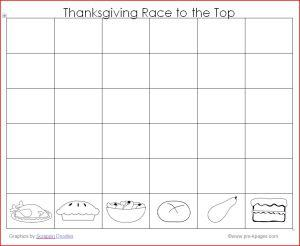 Thanksgiving Math Graphing Preschool Printable