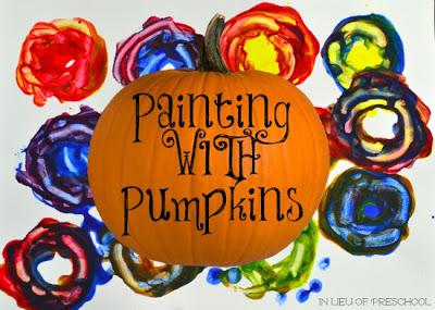 Fall and Halloween Pumpkin Painting Craft for Kids