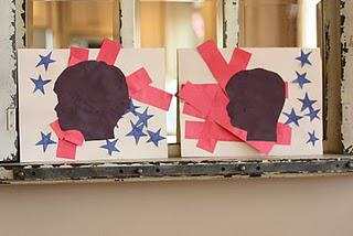 President's Day patriotic silhouette keepsake and craft