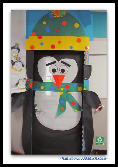 Penguin Winter Classroom Door Display