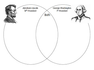Venn Diagram Worksheet for President's Day