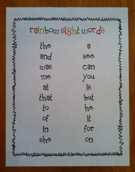 Sight Word Tracing Kindergarten Lesson Plan