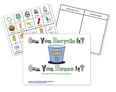 Earth Day Recycling Preschool Lesson Plan