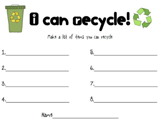 Reduce Reuse Recycle Earth Day Activity Supplyme