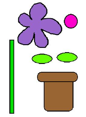 spring garden flower preschool printable math game