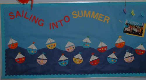 Preschool Summer Bulletin Board Idea