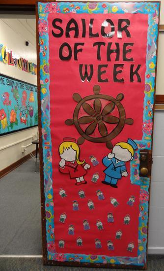 Sailor of the Week Door Decoration