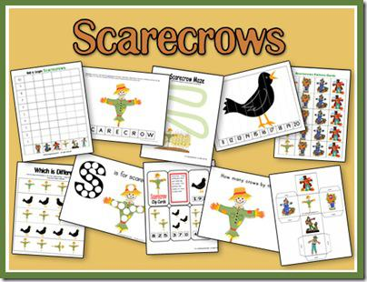 Fall Scarecrow Preschool Printables