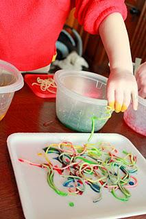 Spring Easter Fine Motor Spaghetti Sculpture Craft