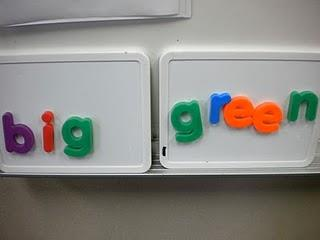 Magnetic Letters for Sight Word Practice